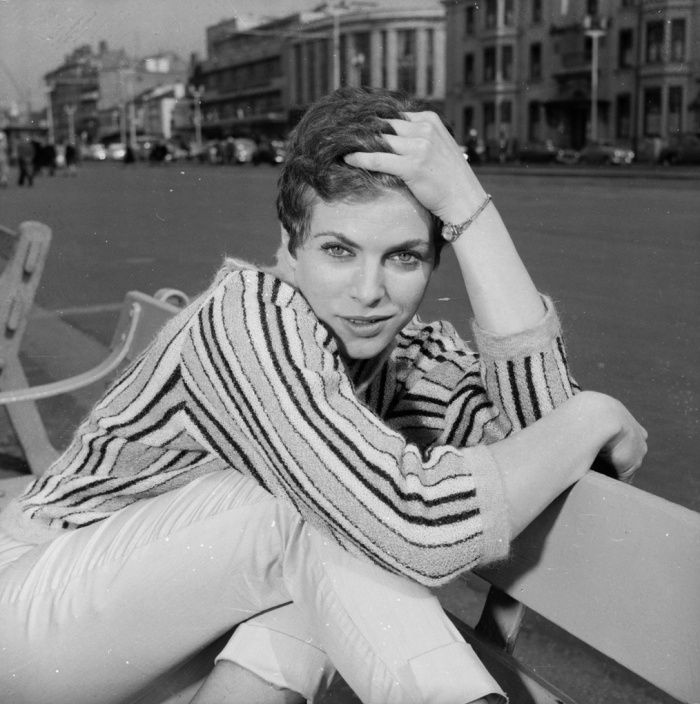 Billie Whitelaw in Blackpool where she starred in the play Progress In The Park