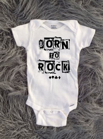 Born to Rock, Baby Born to rock, newborn rockstar, kids rockstar, toddler rock and roll, punk rock baby shower gift, new baby, rock and roll by KyCaliDesign on Etsy