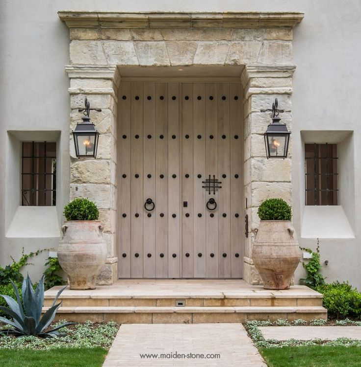 Mediterranean Front Door with Natural stone by Hal McCullough | Zillow Digs