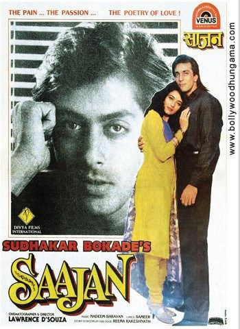 Saajan (1991) Hindi Movie Ratings: 7.3/10 Released On: 30 August 1991 Directed By: Lawrence D'Souza Genre(s): Drama | Romance | Musical Movie Star Cast: Sanjay Dutt, Madhuri Dixit, Salman Khan Saajan (1991) Hindi Movie HD 400MB Free Download Synopsis: Aman (Sanjay Dutt) is a poor, handicapped orphan who is befriended by wealthy Akash Verma (Salman …