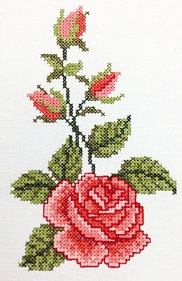 crosstitch Rose