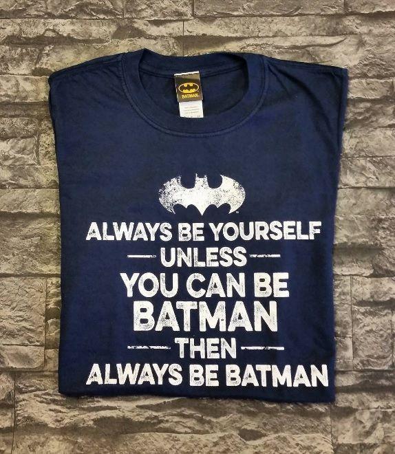 Mens Navy Always Be Batman Slogan T Shirt Be Batman Ideas Of