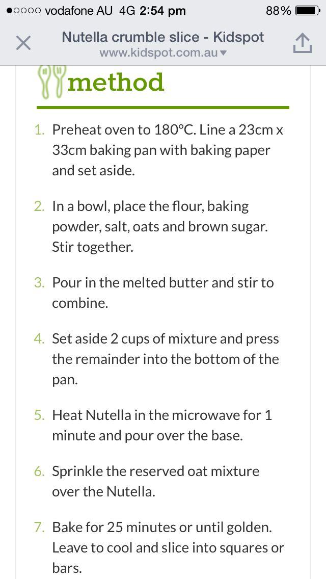 Nutella crumble slice 2