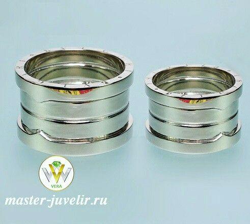 Обручальные кольца. Изготовлены на заказ по фотографии Заказчика. Артикул Обр1050, золото 585 пробы, ширина 15 мм, вес 33 гр.