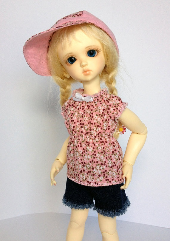 Shorts Shirt and Ball Cap Outfit for Yosd 1/6 by AdrianneInspired