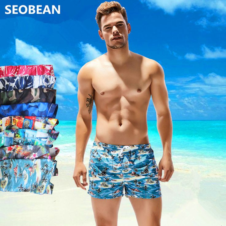 NEW SEOBEAN colorful beach shorts de bain homme swimwear men swim board badeshorts herren mens swimming badmode mannen shorts