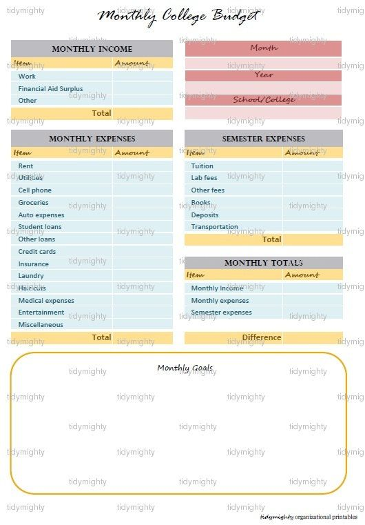 8 Best Personal And Family Budgeting Images On Pinterest | Excel
