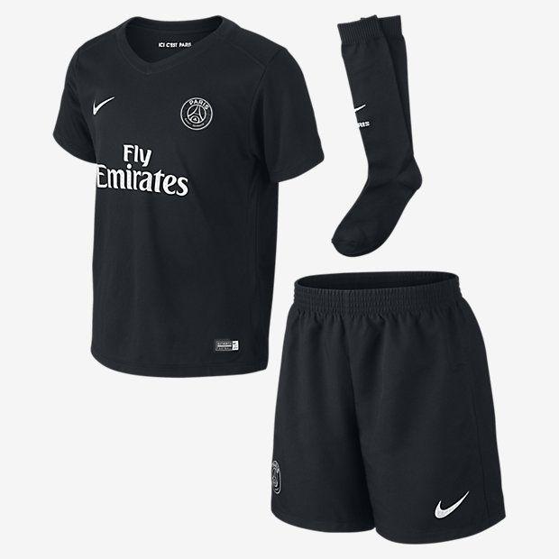 Boys 2015/16 Paris Saint Germain Dark Light Stadium Black/Metallic Silver