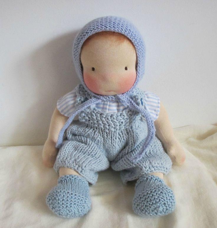 Waldorf inspired doll, little baby boy, 12 inch / 30 cm door Poppenina op Etsy
