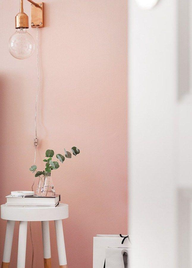 Casinha colorida: Quarto e sala escandinavo romantiquinho