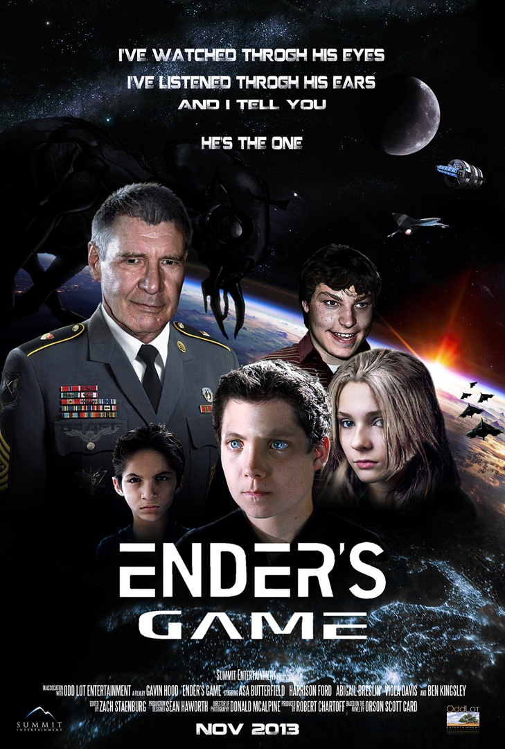 Movie Poster Ender S Game Ender S Game Movie Now And Then Movie