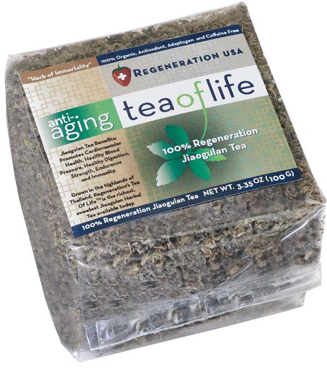 """Tea of Life For hundreds of years, Jiaogulan (pronounced jee-OW-goo-lan) has been valued as """"The Herb of Immortality,"""" in regions where the highest concentration of centenarians (people living over hundred years) are known to live."""