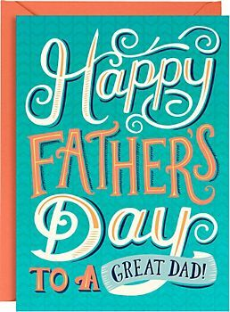 Great Dad Typography Father's Day Card