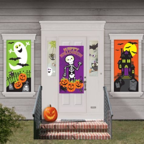 create a spooktacular scene with our cute halloween decorations suitable for indoors and outdoors these cute halloween decorations can be placed on doors