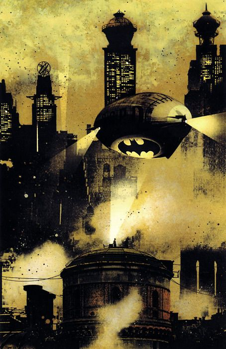 Gotham City, where they use blimps to patrol the city and wonder why crime is so high.