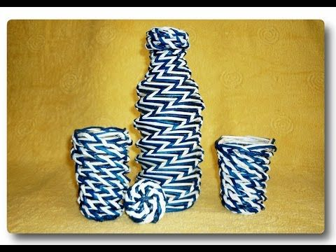 Двухцветное спиральное плетение из газет / Two-color spiral weave from newspapers - YouTube