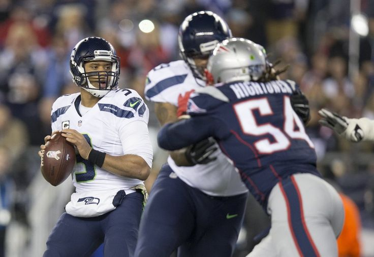 Seahawks vs. Patriots:  31-24, Seahawks  -  November 10, 2016  -    Seattle Seahawks quarterback Russell Wilson (3) drops back to pass during the first quarter. (Dean Rutz / The Seattle Times)