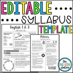 latex syllabus template - 25 best ideas about syllabus template on pinterest high