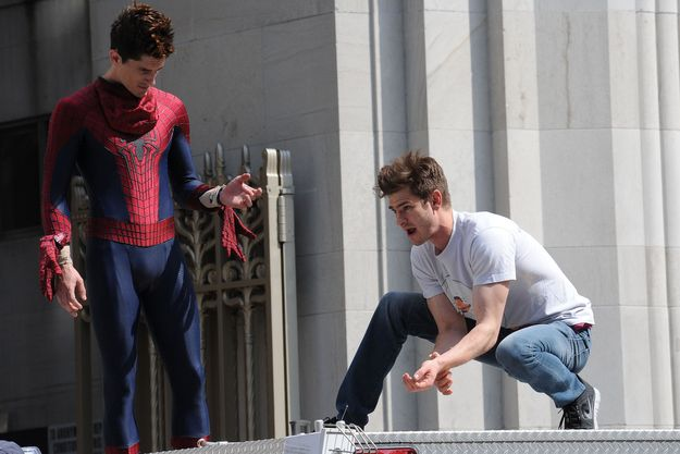 Andrew Garfield | 36 Actors Hanging Out With Their Body Doubles || theres finally two of themmm