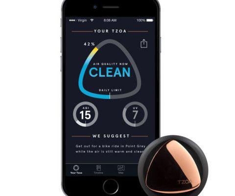 TZOA Wearable Enviro-Tracker