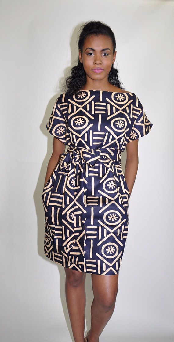African Print Dress The Paige by ChenBCollection on Etsy, $89.00