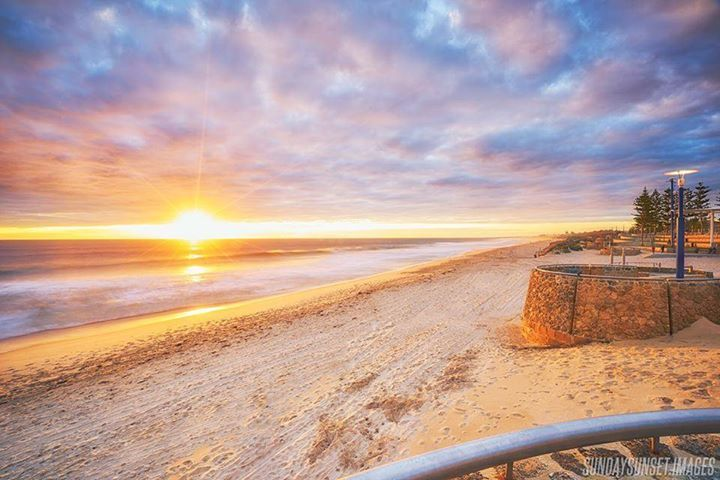 The magnificent Scarborough Beach just one of our favourite neighbours.  Sundaysunset.images