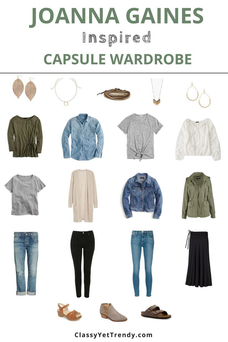 Joanna Gaines Inspired Capsule Wardrobe: 10 Ideen fürs Outfit – #capsule #fürs…