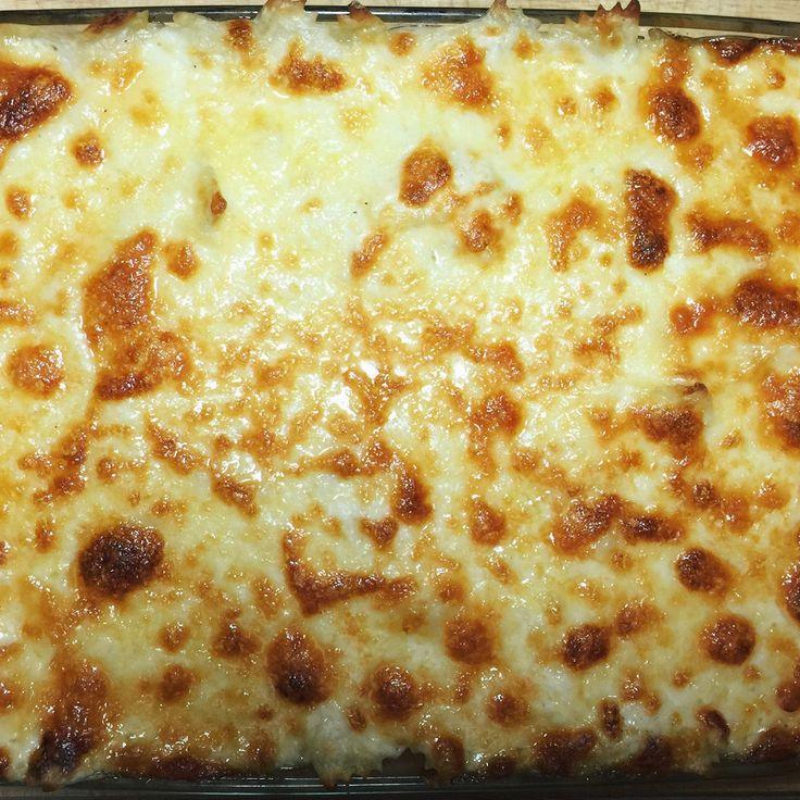 Запеченные макароны в сырном соусе