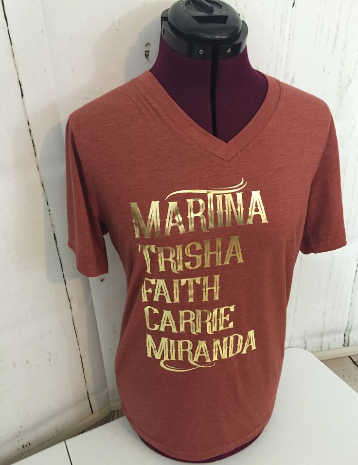 Martina, Trisha, Faith, Carrie, & Miranda Rust tee