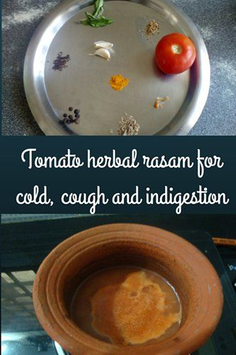 tomato rasam for babies during cold