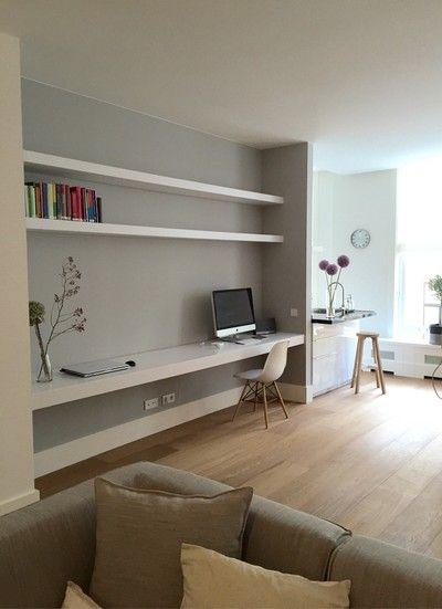 25+ beste ideeën over woonkamer bureau op pinterest - bureau aan, Deco ideeën