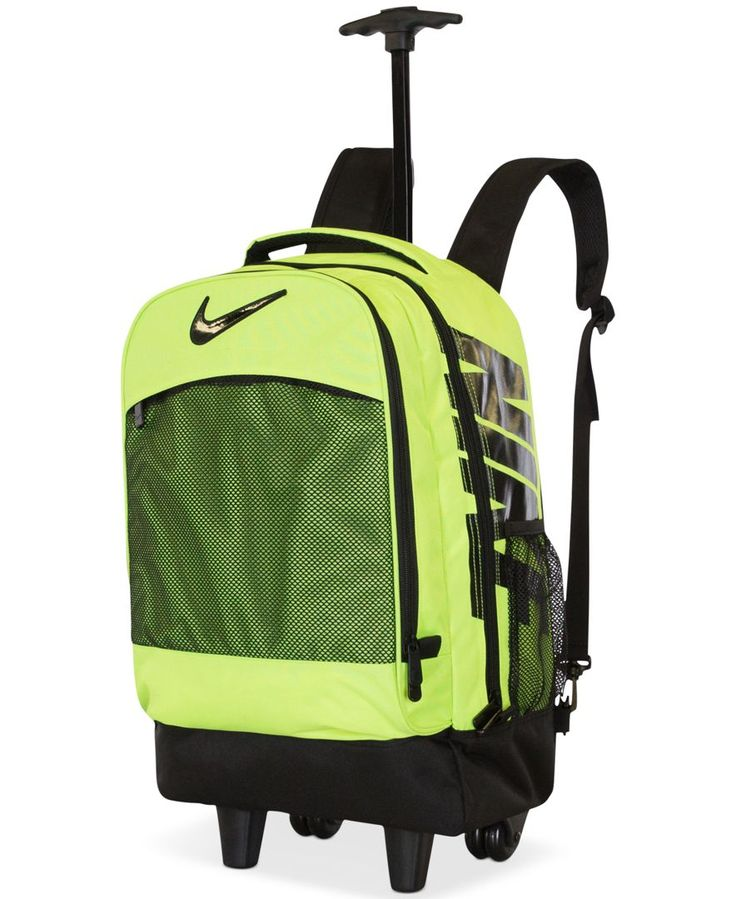 nike rolling backpack green
