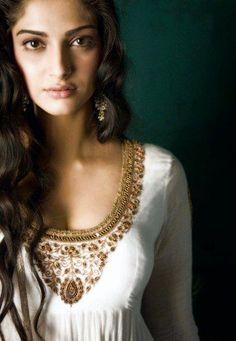@SonamAKapoor, #Embroidery on Neckline's Gorgeous too