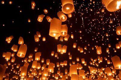 Floating Lantern Festival in Northern Thailand