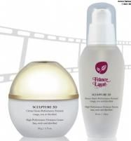 Sculpture 3D helps restore elasticity while reducing the appearance of wrinkles  and expression lines. The combination of these two products dramatically reduces the length, width and  depth of lines on the face, neck and décolleté. Results are visible within minutes of application. Save $20.00 when you buy them as a duo.