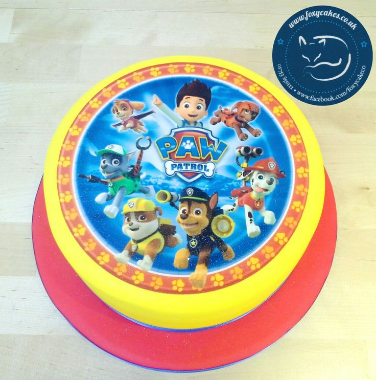 Edible image, Paw Patrol Cake, made by The Foxy Cake Company!