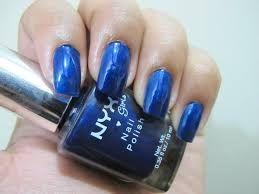 Hasil gambar untuk blue nail polish nyx