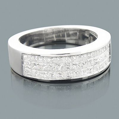 featuring a design and a highly polished gold finish this luxurious mens diamond ring is available in white - Mens Diamond Wedding Rings White Gold