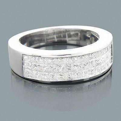 this mens diamond wedding ring 192 carats of genuine diamonds featuring a 3 row - Men Diamond Wedding Ring