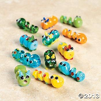 Worm & Caterpillar Lampwork Beads