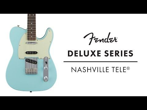 Watch guitarist Dave Nassie run through the Fender Deluxe Series Nashville Tele, which comes straight from the studios of Music Row in the home of country music. A distinctive entry into the Fender family, this Tele growls, snaps and screams with flexible tone that can match any song.