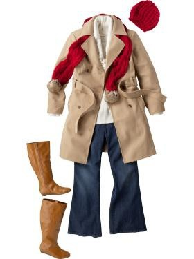 Seriously covetous of that camel colored trench and sweet boots...