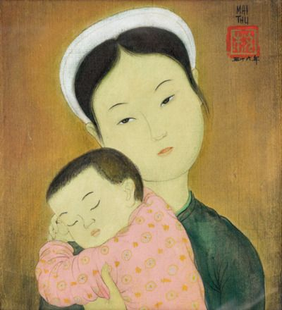 Mai Thu (1906-1980) - Mother and Child, 1944