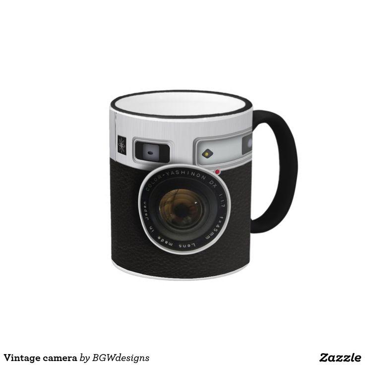 Vintage camera ringer coffee mug
