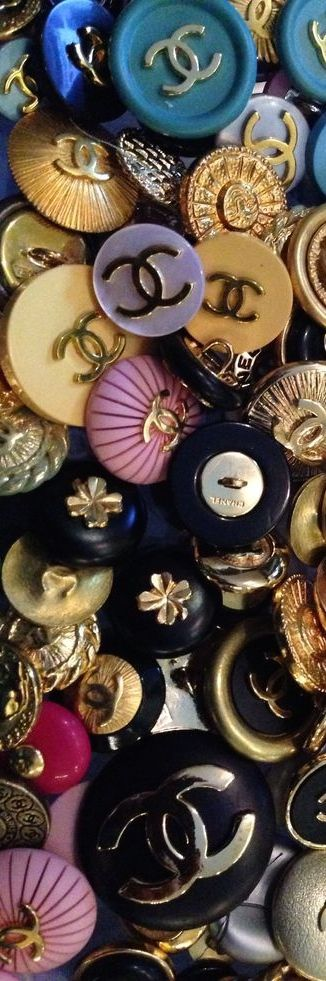 Chanel Buttons .... via pinner Patti Ferguson