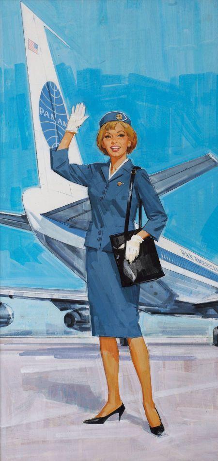 Pan American Stewardess c. 1960s