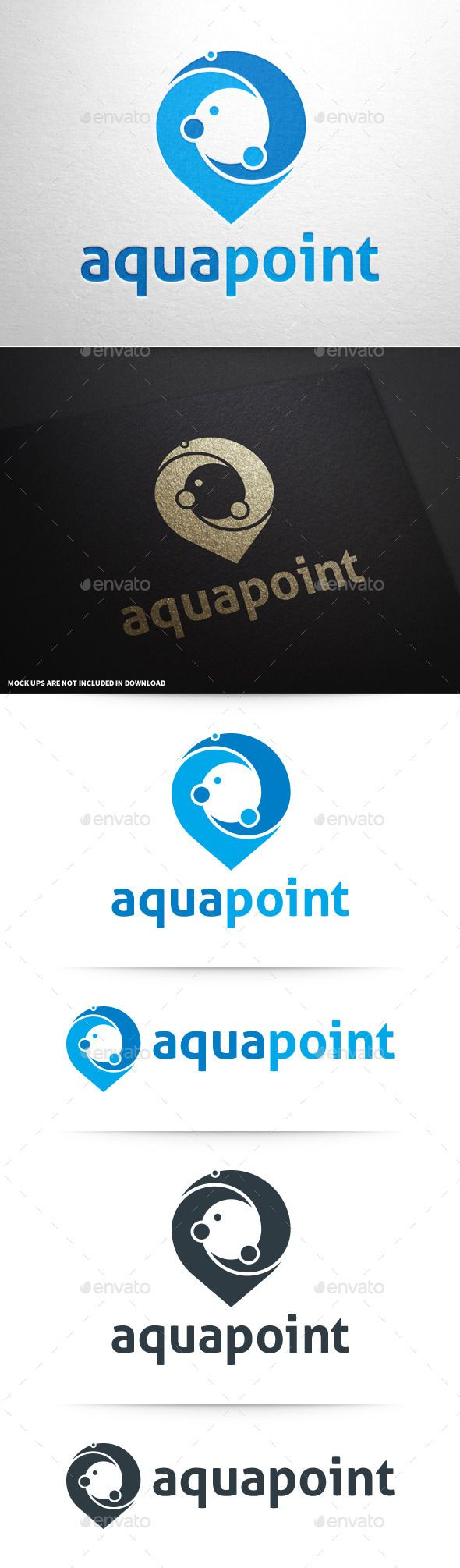 Aqua Point Logo Template - Abstract Logo Templates