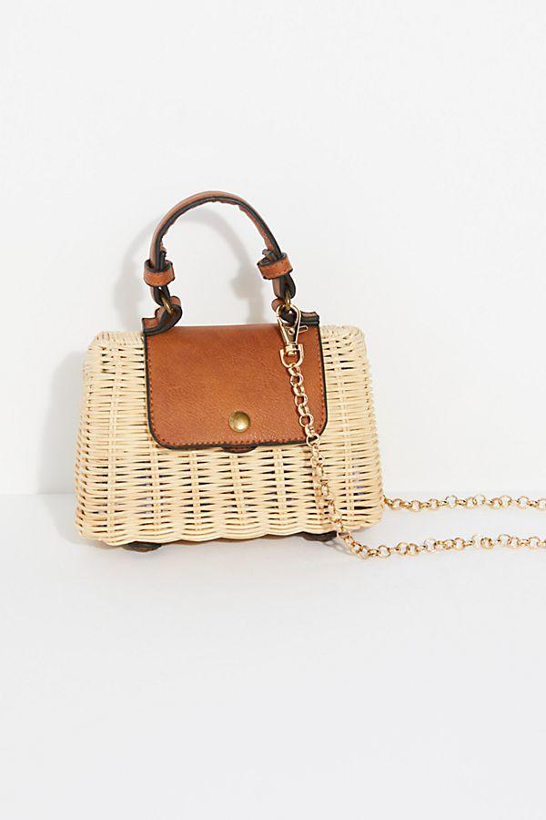 9d7e3ce6eb37 Mini Wicker Crossbody Bag | Pocketbook | Bags, Crossbody bag, Tote ...