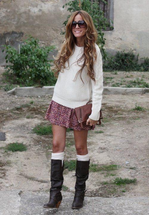 Cowgirl  , Zara en Jerseys, Lefties en Vestidos, Billabong en Bolsos, Blanco en Botas
