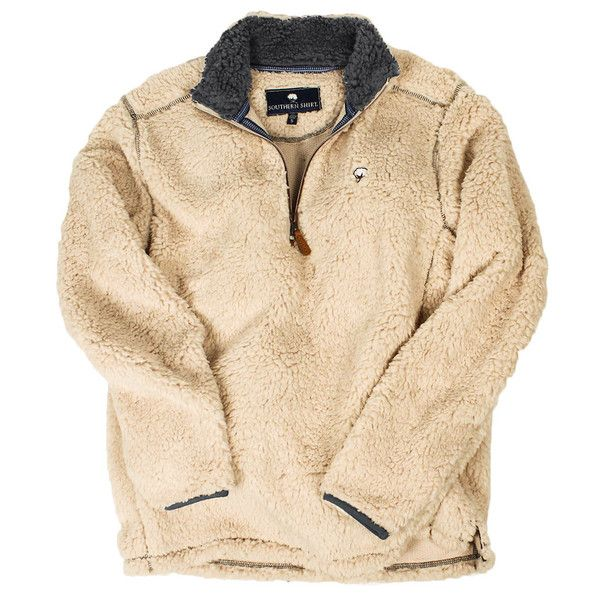 Quarter Zip Sherpa Pullover in Oyster by The Southern Shirt Co.  - 2